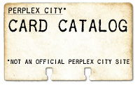 Perplex City Card Catalog